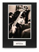 Bill Wyman Signed 16x12 Photo Display Rolling Stones Autograph Memorabilia + COA