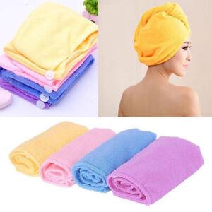 Women Microfiber Hair Wrap Head Towel Drying Bath Towel Cap Hat Hair WrapTurban