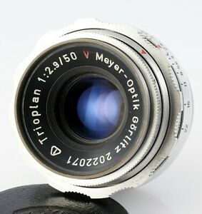 MEYER-OPTIK lens TRIOPLAN 2.9/50 Red V EXA EXAKTA mount BUBBLE BOKEH 50mm F/2.9