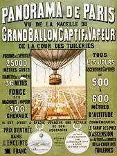VINTAGE Pubblicità PALLONE HOT AIR Paris France poster art print PICTURE bb1684b