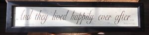 "Fairytale Sign ""And They Lived Happily Ever After"""