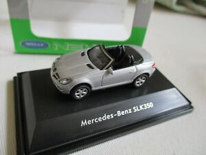 Miniature Modelling Rail Mercedes Benz SLK 350 1/87 Ho WELLY 5 CM Long