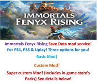 Immortals Fenyx Rising! Save Data mod service! For PS4, PS5 & Uplay!!!