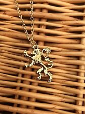 FREE GIFT BAG Gold Game of Thrones Ice & Fire Lion Lannister Necklace Chain Xmas