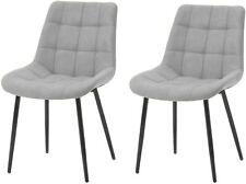 2x Esszimmerstuhl Küchenstuhl mit Lehne aus Stoffkissen für Esszimmer,Wohnzimmer
