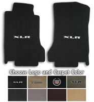 Lloyd Velourtex Carpet Front Floor Mats for 2004-2009 Cadillac XLR with Logo