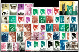 INDONESIA varied group 55 stamps ** from upgiven collections