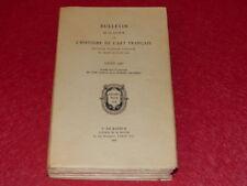 BULLETIN DE LA SOCIETE DE L'HISTOIRE DE L'ART FRANCAIS - ANNEE 1963