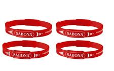 3 Sabona Pro Magnetic Sport Bracelets - 2 Red 1 Blue Sz.small/medium