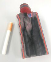 """4"""" Colorful Wooden Tobacco Dugout Set with Pipe Easy Grip  3"""" CERAMIC One Hitter"""