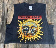 SUBLIME Sun Sleeveless Cutoff T-Shirt Adult Medium Modified READ DESCRIPTION