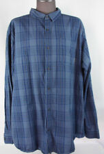 Men's Columbia Sportswear L/S Button Up Shirt SZ XXL Blue Plaid 100% Cotton