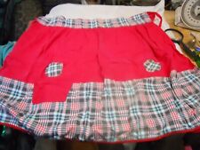Vintage 1/2 Apron Red with Plaid, 1 Pocket Great Condition