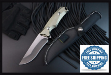 NEW 58HRC Fixed Blade Tactical Knife Full Tang Hunting Knife Aluminum Handle