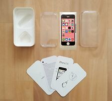 iPhone 5C Empty Box, leaflets, sim tool & PINK Transportation Screen Protector