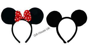 Mickey Mouse Minnie Mouse Mini Ear Headband Girls Disney School Party Bulk Buy