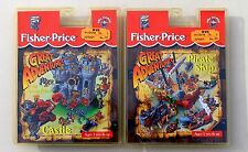 FISHER-PRICE GREAT ADVENTURES CASTLE & PIRATE SHIP CASSETTE LOT. SEALED. NEW.