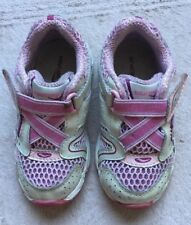 Saucony Toddler Girl Shoes, Size 6, Pink And White Sneakers, Hook & Loop Fasten