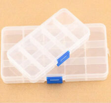 New 10 Slots Adjustable Jewelry Storage Box Case Craft Organizer Beads Plastic