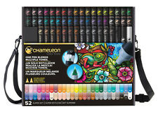 Chameleon Color Color Tones Pens Markers 52 pc Super Set In Case CT5201 BONUS