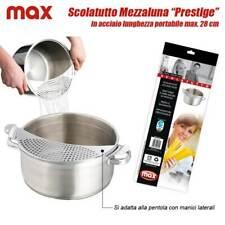 Adattatore Scolatutto Scola Pasta Acciaio Inox Per Pentole Max 28 Cm Con Manici