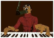 Stevie Wonder  POSTER  **AMAZING POP ART**  Print Motown 70's Soul R&B King