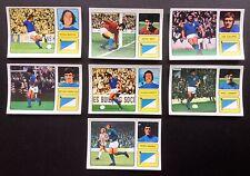 Ipswich Town FKS 1973-74 il meraviglioso mondo delle stelle del calcio 7 X ADESIVI