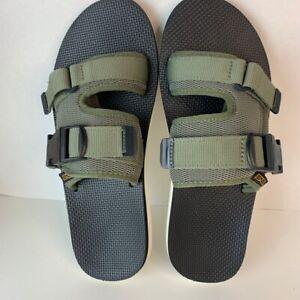 Teva Mens Original Sliding Sandals Gray Double Buckle Slip Ons 9 EUR 42