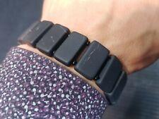 """Shungit bracelet """"Amazon"""" size 200 mm. natural stone unpolished.."""