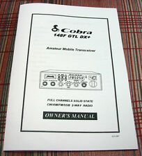Cobra 148FGTL-DX+ Export Radio Owners Manual - RARE!