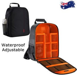 Large Waterproof DSLR SLR Camera Backpack Travel Bag for Nikon Canon Shackproof