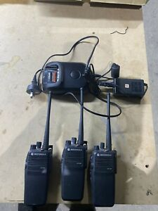Motorola DP3400 X3 Units With Charger And Adapter