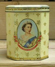 Queen Elizabeth II Coronation Tea Caddy Tin Joseph Burton & Sons