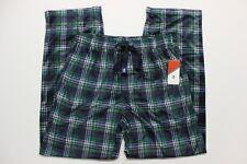 Men's IZOD Advantage Sleepwear Silky Fleece Lounge Pants - Green Navy Plaid - M