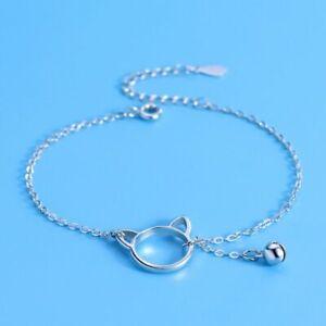 925 Sterling Silver Cute Kitty Charm Bracelet Girls Children Jewellery UK