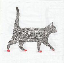 2 Serviettes en papier Chat Design Decoupage Paper Napkins Top Cat