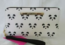 Betsey Johnson Panda Wallet Wristlet Zip Around Purse NWT