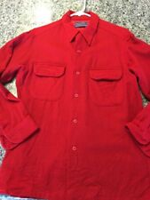 Vintage Pendleton RED Wool Button Front  Shirt Mens M