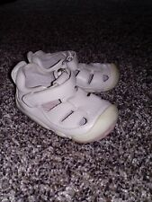 Stride Rite white leather crib crawling dress shoes sandals size 3 month