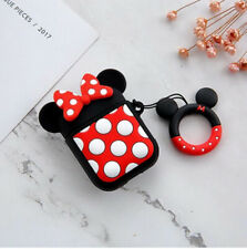 Silicone Cover Protective Case Apple Airpods GEN 1 2 Earpods Minnie Mouse CRTN