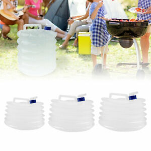 5L-15L Water Carrier Container Foldable Collapsible With Taps Camping Bottle