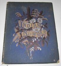 1883 BOOK - INDIAN SUMMER AUTUMN POEMS AND SKETCHES - L CLARKSON - COLOR PLATES