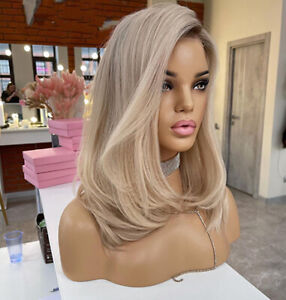 Human Hair Wig Imitation Lace Frontal High Quality Full Medical Wigs Fake Scalp