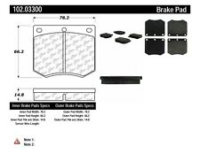 Disc Brake Pad Set-C-TEK Metallic Brake Pads Front Centric 102.03300