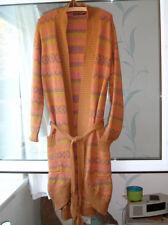 *Gudrun Sjoden* Naime fairisle knit long wrap cardigan L