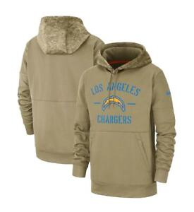 NIKE Los Angeles Chargers 2019 Salute to Service Sideline Therma Hoodie Men's M