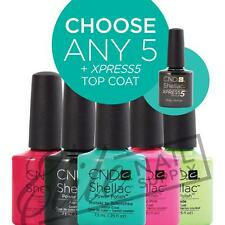 CND SHELLAC - 7.3ml - Any 5 Colours + XPRESS5 Top
