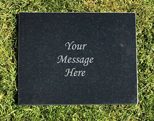 Personalised Granite Memorial Grave Plaque Headstone Any Name & Message
