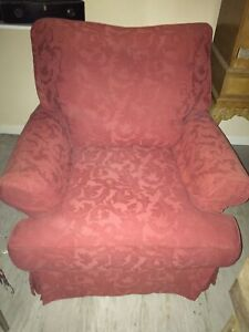 Tetrad Armchair In Red With Removable Covers