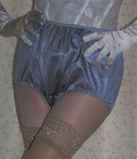 Vintage style dark silver silky nylon gusset full briefs knickers panties large